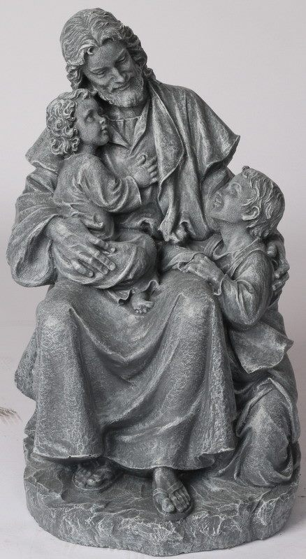 Jesus Sitting W Children 20 K S Statuary